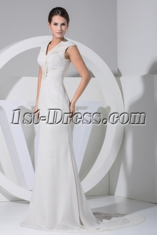 Gray Mother of Bride Dresses Atlanta with Train WD1-041