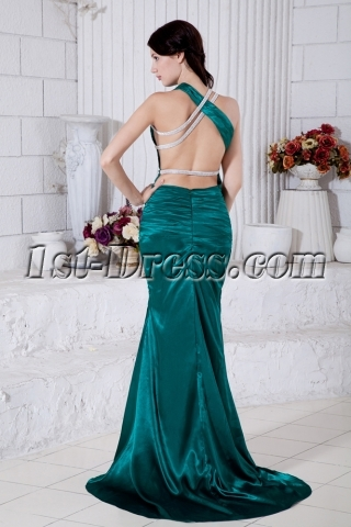 Green Criss Backless Sexy Summer Celebrity Gown Dress IMG_7729
