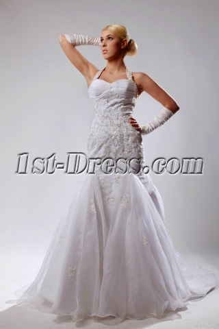 Halter Mermaid Wedding Dresses with Sweetheart Neckline SOV110026