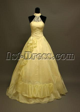 High Neck Casual Wedding Dresses for Spring img_6882