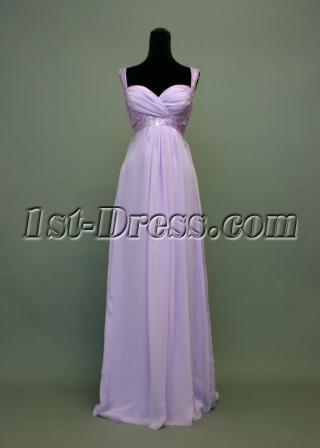 Lavender Plus Size Empire Prom Dress img_7330