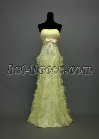 Lemon Column Gradation Dress with Bow IMG_7035