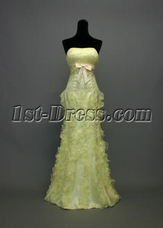 Lemon Column Gradation Dress with Bow IMG_7035