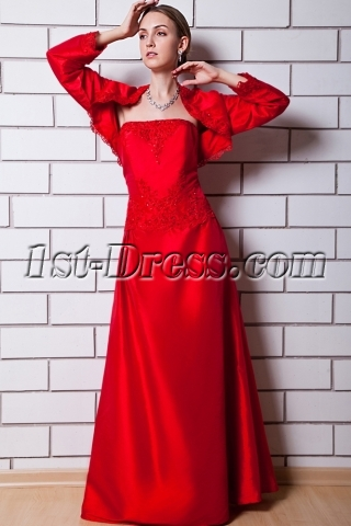 Long Red Mother of the Groom Dresses for Spring 2012 with Jacket IMG_0798