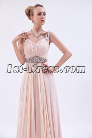 Luxurious Chiffon Coral Prom Dress 2013 im_9897