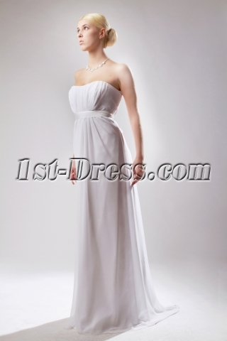 Mild Casual Maternity Bridal Gown Floor Length SOV111001