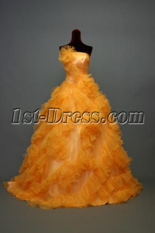 Orange New 2013 Quinceanera Dresses IMG_6999