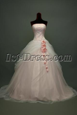 Pink and White Glamorous Beautiful Bridal Gown img_7370