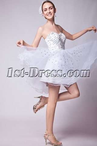 Pretty Puffy White Sweet 16 Dresses IMG_1286