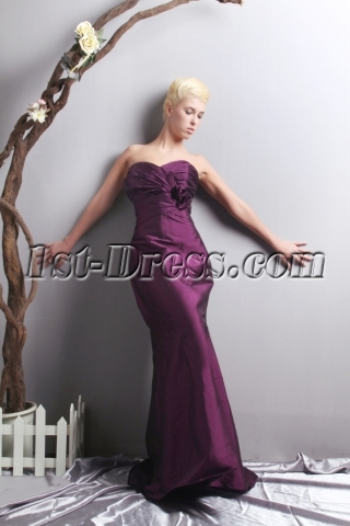 Elegant Purple Sheath Formal Evening Dress SOV111023