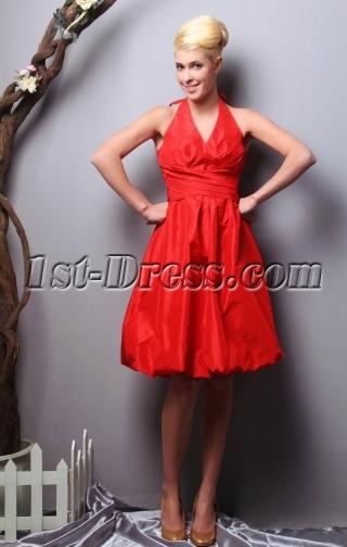 Red Halter Plus Size Bridesmaid Dresses under $150 SOV112012