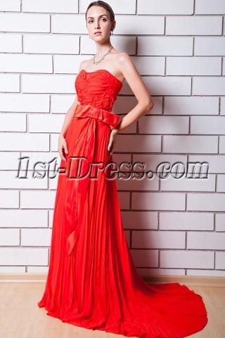 Red Pleat Brilliant Celebrity Dress IMG_0712