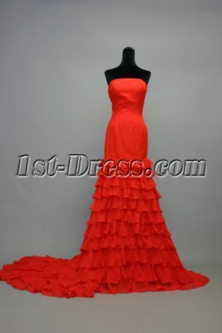 Red Sheath Beach Wedding Dress IMG_7042