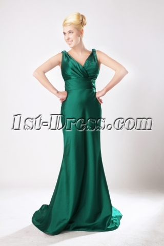 Romantic Green V Long Mother of Brides Gown SOV111009