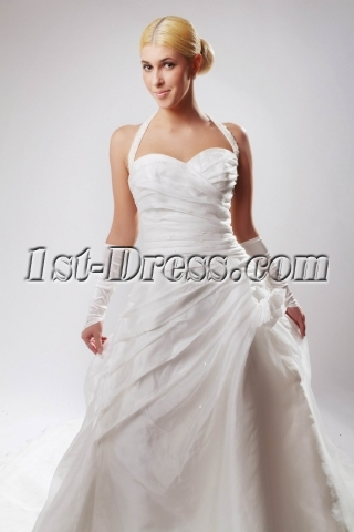 Romantic Sweetheart Wedding Dresses with Halter SOV110032