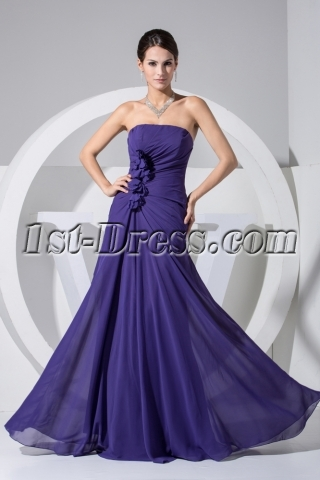 Royal Elegant Floor Length Mother of Groom Dress WD1-019