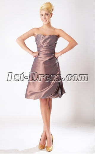Russet-red Cute Short Junior Bridesmaid Dress SOV11205