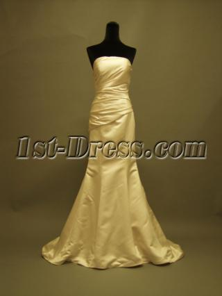 Satin Petite Sheath Wedding Dresses P8310618