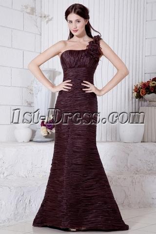 Sheath One Shoulder Luxurious Evening Dress IMG_7097