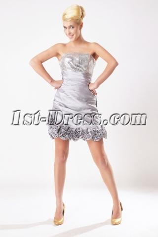 Silver Short Quinceanera Dresses Spring 2013 SOV113002