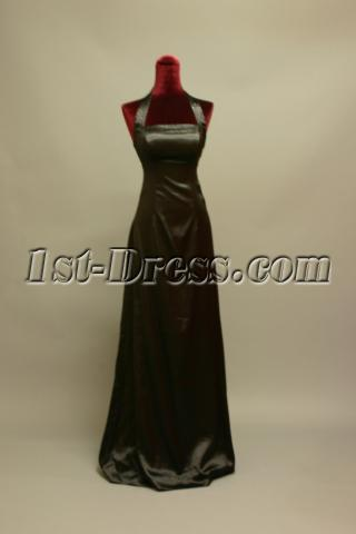 Simple Halter Black Graduation Gown img_6976