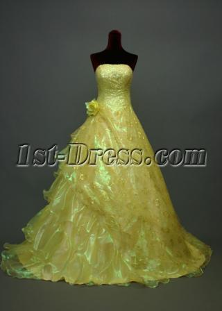 Simple Lemon Yellow Quinceanera Dresses img_7031