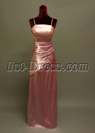 Spaghetti Straps Junior Bridesmaid Dresses IMG_6954