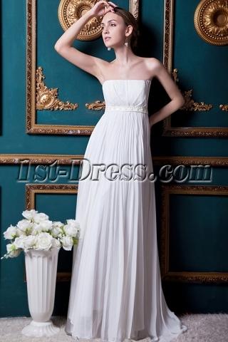 Strapless Ivory Empire Elegant Beach Wedding Dress IMG_1638