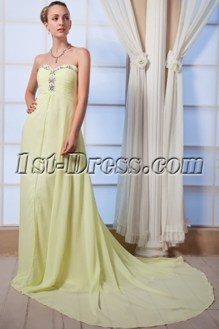 Strapless Lemon Maternity Evening Dresses IMG_0009
