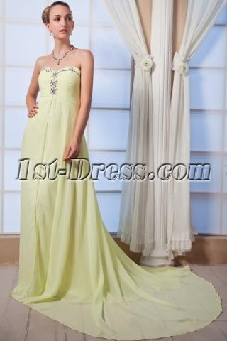 Strapless Lemon Maternity Evening Dresses IMG_0009
