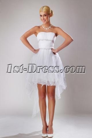 Summer High-low Hem Short Bridal Gown SOV110041