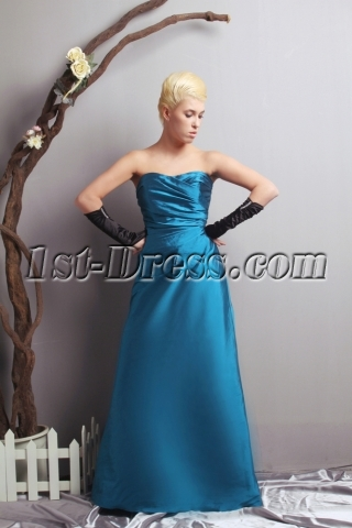 Sweetheart Long Teal A-line Pretty Prom Dress SOV111024