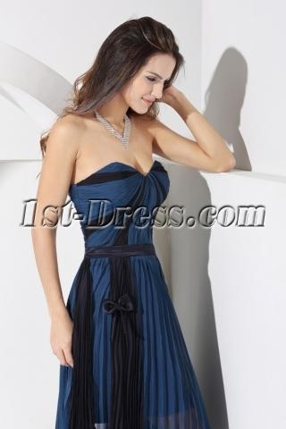 Sweetheart Navy and Black Beach Bridesmaid Dress WD1-053