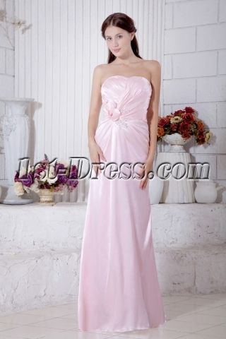 Sweetheart Pearl Pink Maternity Bridesmaid Dress Long 2013 IMG_7126