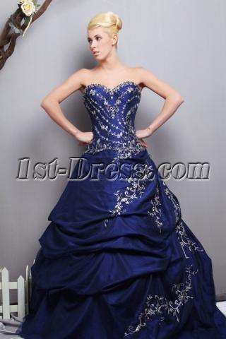 Sweetheart Royal Taffeta Best Quinceanera Dresses with V-back SOV113013