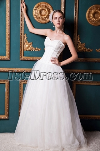 Sweetheart Simple Ivory Long Sweet 16 Dresses IMG_1598