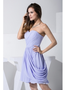 2012 Lavender Short Bridesmaid Dresses with Sweetheart WD1-010