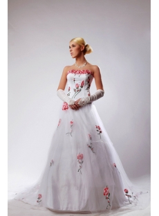 2013 Beautiful Wedding Dresses with Embroidery Flowers SOV110024