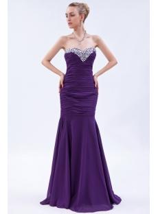 2013 Grape Gorgeous Mermaid Evening Dresses IMG_9821