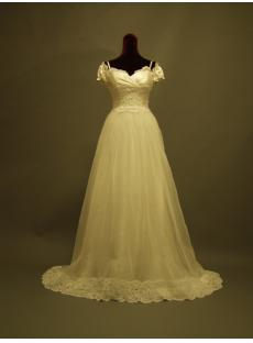 2013 Modest Couture Wedding Dresses with Short Sleeves P8310623
