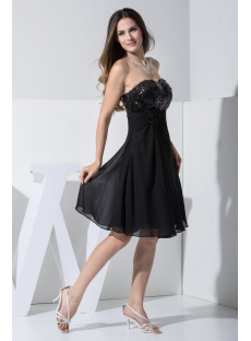 2013 Sweetheart Short Black Sequin Casual Prom Dress WD1-013