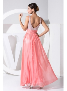 Ankle-length Low V-back Water Melon Charming Evening Dress 2013 WD1-024