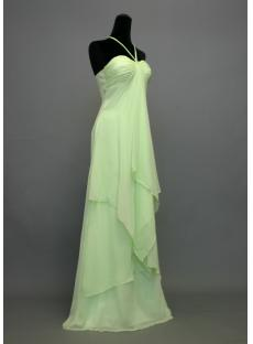 Apple Green Halter Empire Plus Size Maternity Prom Dress IMG_7305