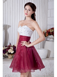 Beaded Cute White And Burgundy Sweet 15 Dress Img 6949