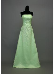 Beaded Sage Green Prom Dresses 2013 IMG_7027