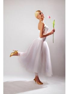 Beaded Sweetheart Tea Length Summer Informal Short Bridal Gown SOV11043