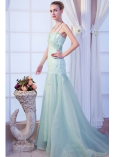 Beautiful Sage Vintage Evening Dress IMG_9957