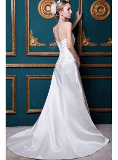 Beautiful Simple Western Bridal Gown with Train IMG_1683