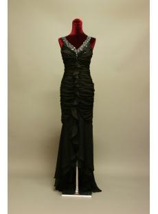 Black High-low Ruffle Prom Dresses IMG_6938