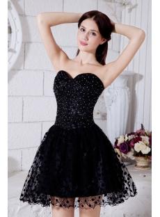 Black Mini Length Cocktail Dress with Spot IMG_7401